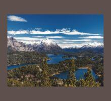 Lake Nahuel Huapi and mountains (Patagonia - Argentina) One Piece - Short Sleeve