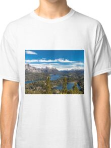 Lake Nahuel Huapi and mountains (Patagonia - Argentina) Classic T-Shirt