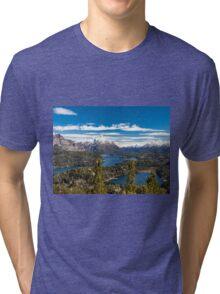 Lake Nahuel Huapi and mountains (Patagonia - Argentina) Tri-blend T-Shirt