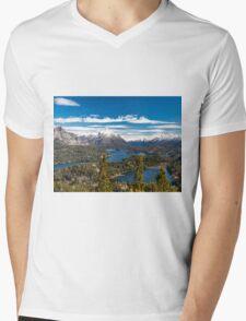 Lake Nahuel Huapi and mountains (Patagonia - Argentina) Mens V-Neck T-Shirt