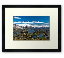 Lake Nahuel Huapi and mountains (Patagonia - Argentina) Framed Print