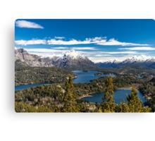Lake Nahuel Huapi and mountains (Patagonia - Argentina) Canvas Print
