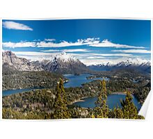 Lake Nahuel Huapi and mountains (Patagonia - Argentina) Poster