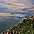 view of the coastline from Taormina by Andrea Rapisarda