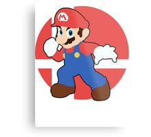 Mario - Super Smash Bros. For Wii U And 3DS Metal Print