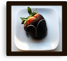 chocolate dipped Canvas Print