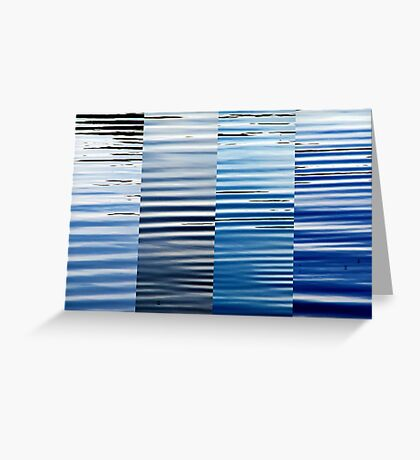 Into Blue  Greeting Card