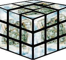 Winter Gardens Rubiks Cube by Nathan Walker