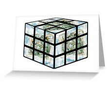 Winter Gardens Rubiks Cube Greeting Card