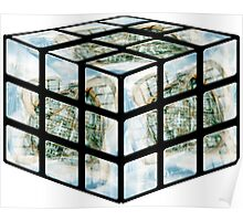 Winter Gardens Rubiks Cube Poster