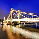 Albert Bridge - London by Dominic Kamp
