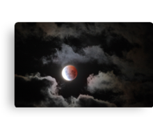 Lunar Eclipse Easter 2015 Canvas Print