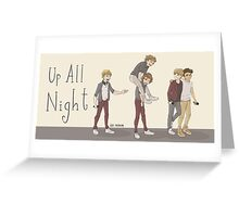 Up All Night Tour Greeting Card