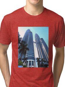 PetronasTwin Towers Kuala Lumpur Malaysia Tri-blend T-Shirt