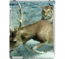 Natural environment diorama -  A deer escaping a tiger attack  iPad Case/Skin