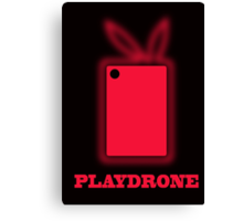Playdrone with red field Canvas Print
