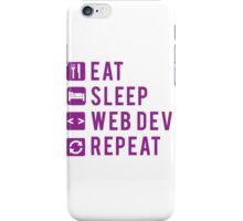 Eat Sleep Web Dev Repeat Purple iPhone Case/Skin