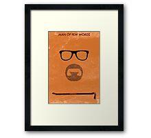 Man of few words. Framed Print