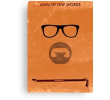 Man of few words. Canvas Print