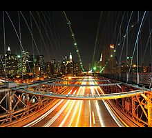 Brooklyn Bridge Fisheye by Dominic Kamp