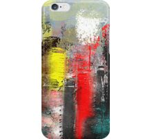 Urban Abstract in Red, Aqua, and Yellow iPhone Case/Skin