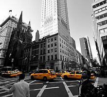 New York Taxi by Dominic Kamp