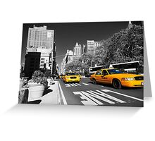 New York Taxi 2 Greeting Card