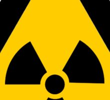 Radioactive Yellow Triangle Warning Road Sign Sticker