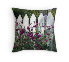 Old Fashioned Picket Fence Throw Pillow