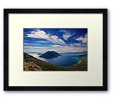 Ionian panorama from Xiromero Framed Print