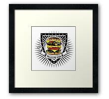 doubleburger shield Framed Print