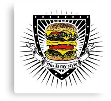 doubleburger shield Canvas Print