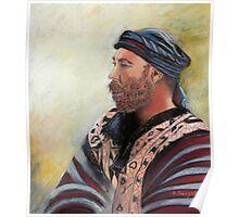 The Watcher Pastel portrait painting Poster