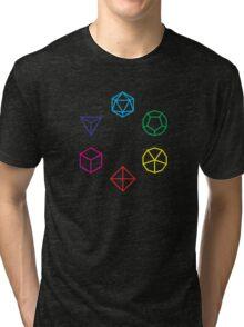CMYK Rainbow Dice Geometry Tri-blend T-Shirt
