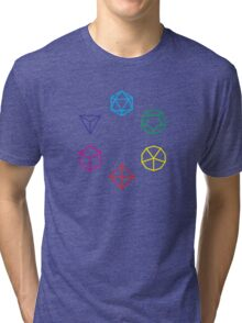 CMYK Rainbow Dice Geometry Tri-blend T-Shirt
