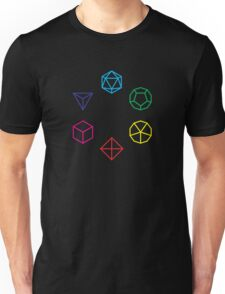 CMYK Rainbow Dice Geometry Unisex T-Shirt