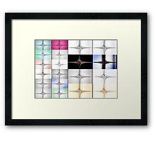 50 fractals from one fractal  Framed Print