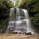 Waterfall, Blue Mountains national Park, NSW Australia by David Mapletoft
