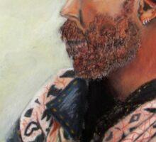 The Watcher Pastel portrait painting Sticker