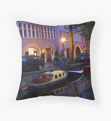 Dutch Canal II Throw Pillow