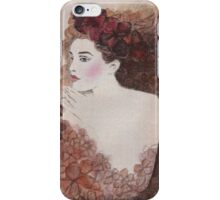 FLOWER-PRINCESS WITH AUBURN HYDRANGEAS - Watercolour-Painting-Design iPhone Case/Skin