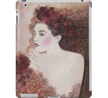 FLOWER-PRINCESS WITH AUBURN HYDRANGEAS - Watercolour-Painting-Design iPad Case/Skin