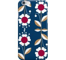 Ornate seamless pattern with the leaves and flowers cute modern iPhone Case/Skin