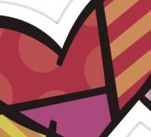 Romero Britto The Winged Heart Sticker
