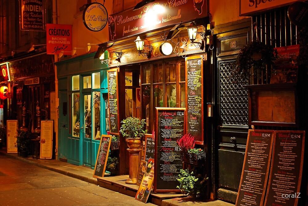 Night colors of Paris by coralZ