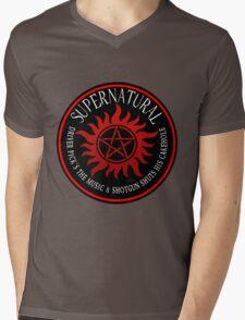 Supernatural Driver pricks the music  Mens V-Neck T-Shirt