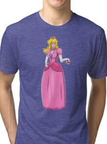 The Sassy Princess Peach Tri-blend T-Shirt