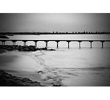 Dusk at Beachport jetty in monochrome Photographic Print