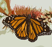 Monarch on Paper by Donna Adamski