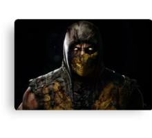 Scorpion Damaged Mortal Kombat X Canvas Print